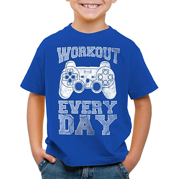 style3 Gamer Workout Camiseta para Niños T-Shirt: Amazon.es: Ropa y accesorios