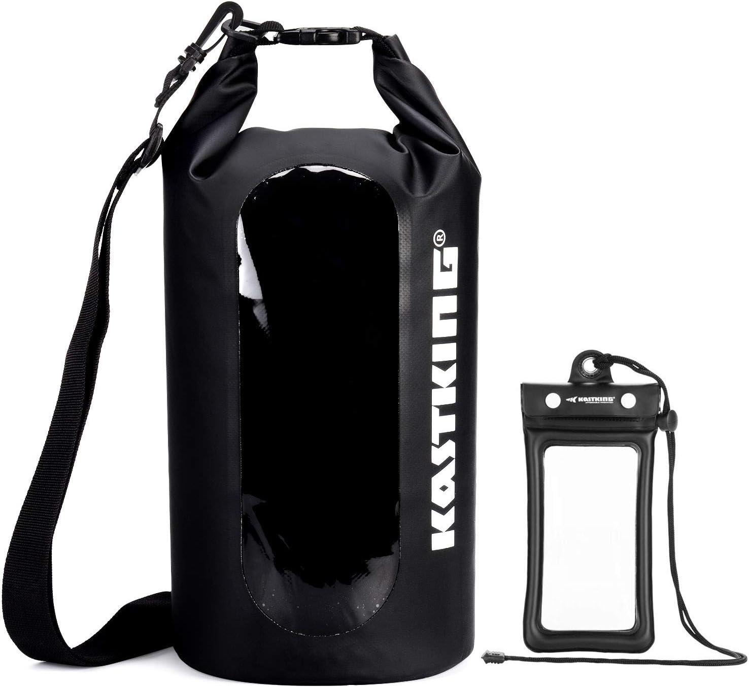13 Ltr LIGHTWEIGHT DRY SACK Black waterproof bag trek pouch Sailing roll /& clip
