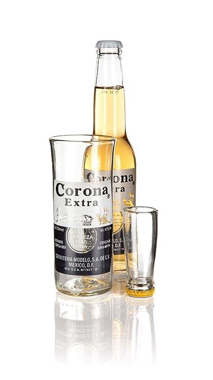 Glass ReFORM Juego de Vaso y Vaso de chupito, Hecho en Devon con una Botella