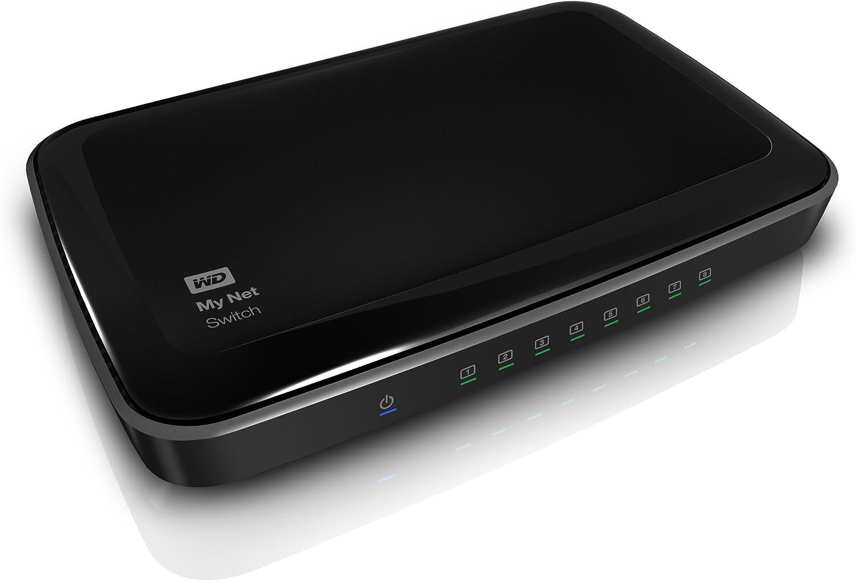 WD My Net Switch - 8 Port Gigabit Ethernet Network Switch - HD Media Switch