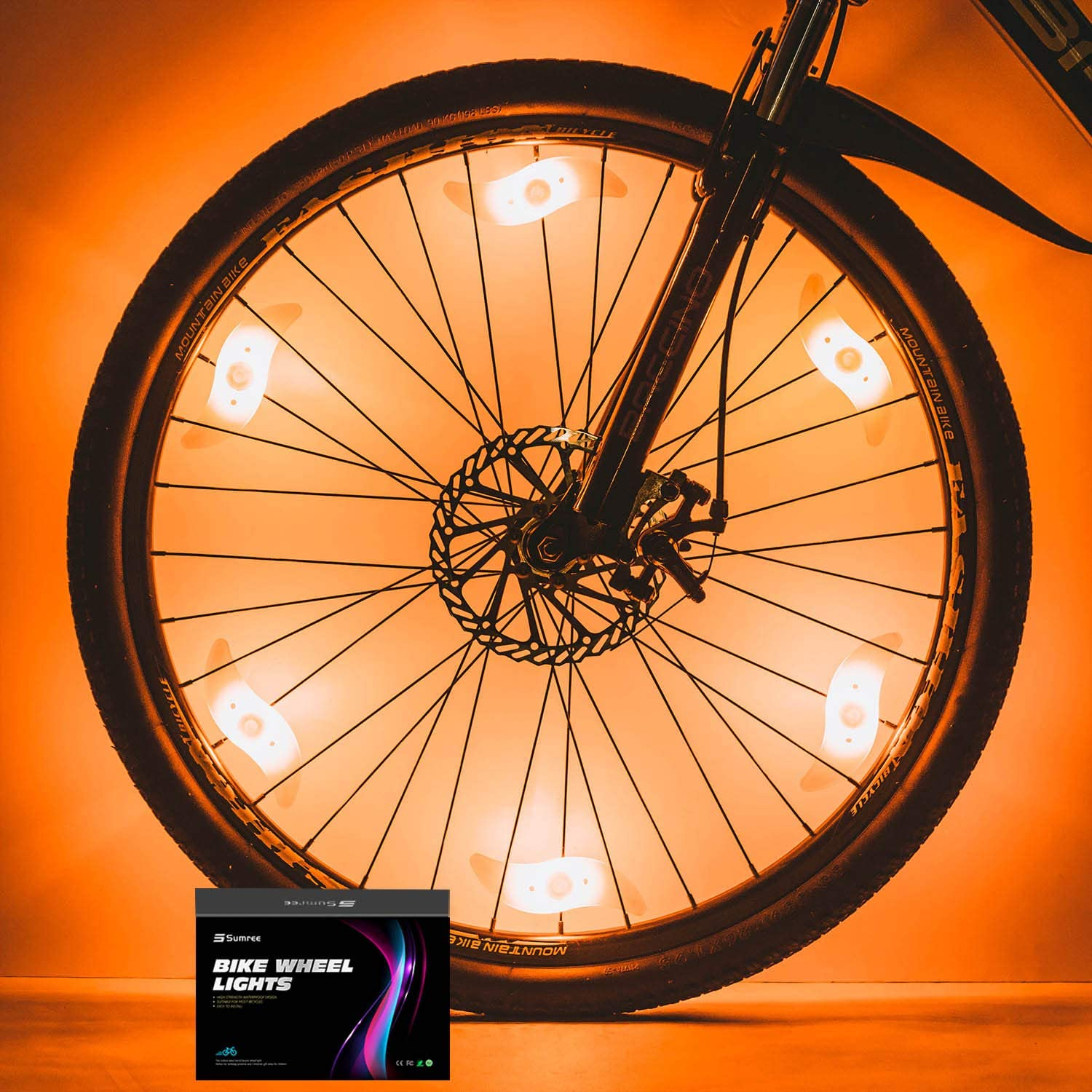 Batteries Included and 6 Extra Batteries Sumree Bike Spoke Lights Bike Wheel Lights for Cycling Bicycle Decoration 6 Pack