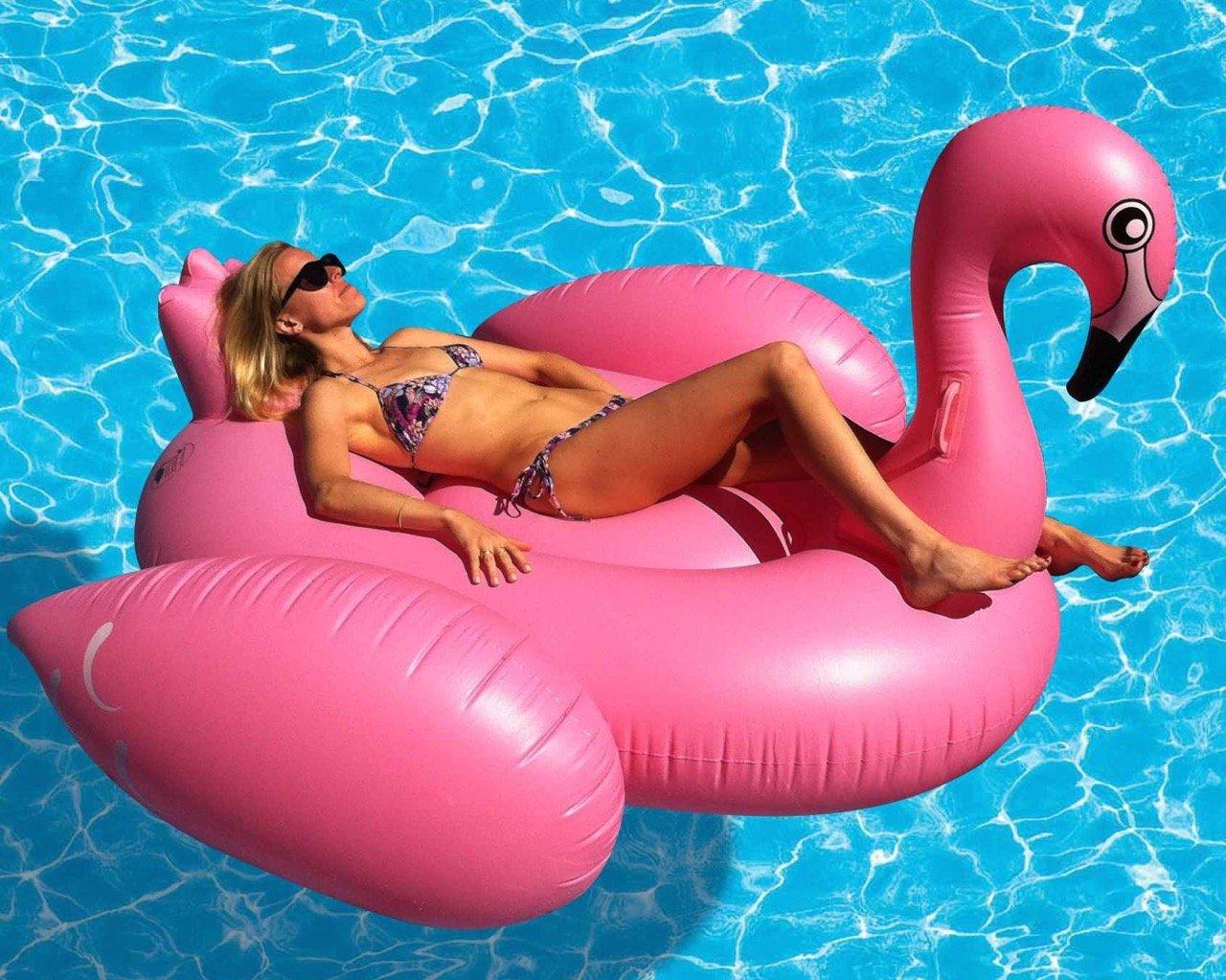 Giant Flamingo Inflatable Pool Float