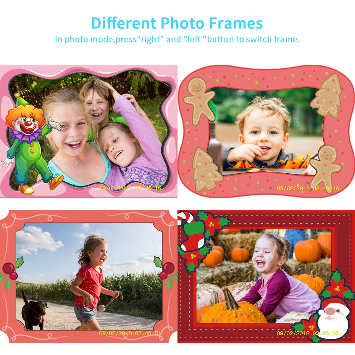 Joytrip Kids Camera Gifts,Front and Rear Selfie Children Camcorder,2.3 Inches Screen,for Boys,Blue by Joytrip (Image #4)