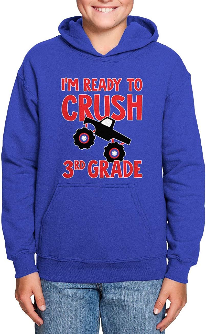 Back to School Toddler//Youth Fleece Hoodie Im Ready to Crush 3rd Grade
