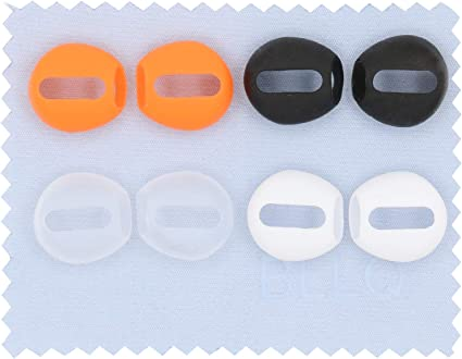 BLLQ Fit in Case AirPods Tips Ear Skins Covers Anti Slip Eartips Ear Gels fit for AirPods 2 AirPods 1 Earbuds White 5 Pairs