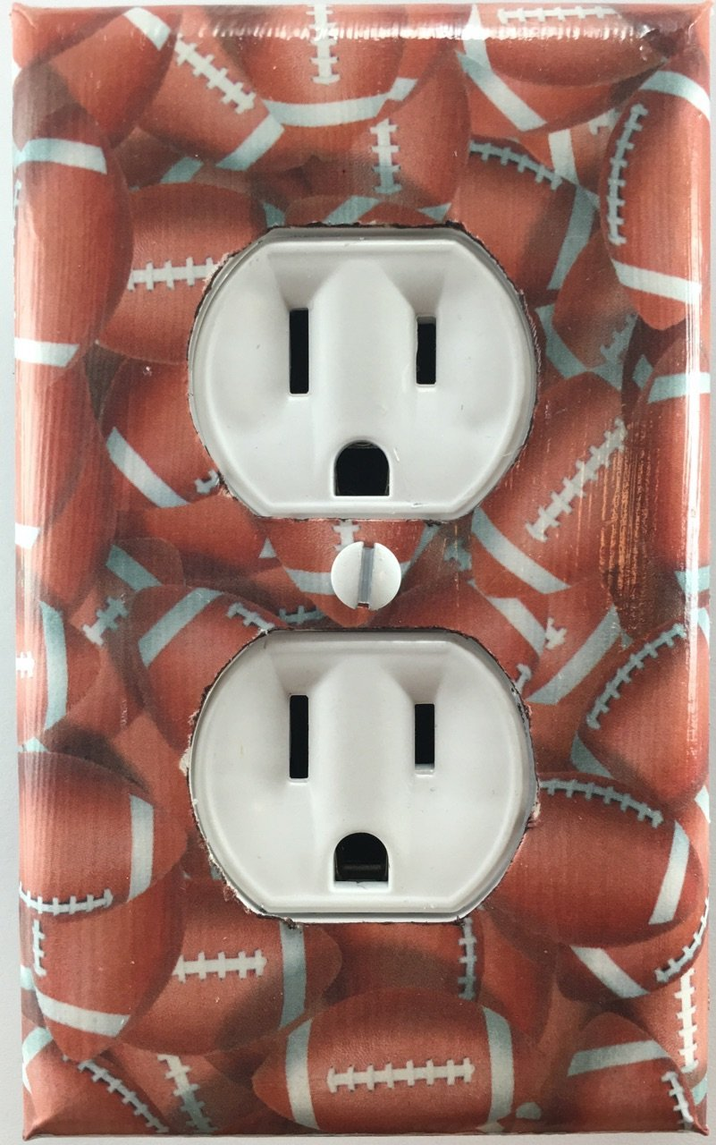 Amazoncom Football Sports Decorative Outlet Plate Cover Handmade