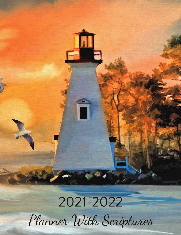 Sunset Calendar 2022.2021 2022 Planner With Scriptures Monthly Calendar Lighthouse Orange Sunset Farrell Lise 9798655653351 Amazon Com Books