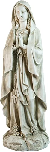 Northlight Praying Religious Virgin Mary Outdoor Garden Statue 27.75″ Gray