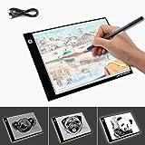 XCSOURCE A4 Ultra Slim LED Light Box Light Pad Artcraft Drawing Board Stencil Tracing Tattoo Copy Table Pad with Brightness Adjustable XC702