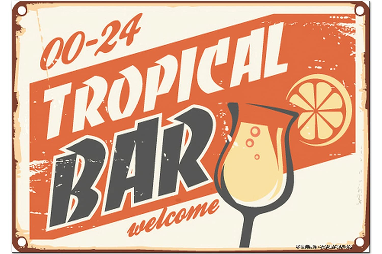 Iman Nevera Party Retro Bar tropical Bar Publicación Restaurante: Amazon.es: Hogar