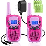 Rechargeable Walkie Talkies - Kids Walkie Talkies Walki Talki Handheld Kid Toy with LED Flashlight for Girls Boys Outdoor Cam