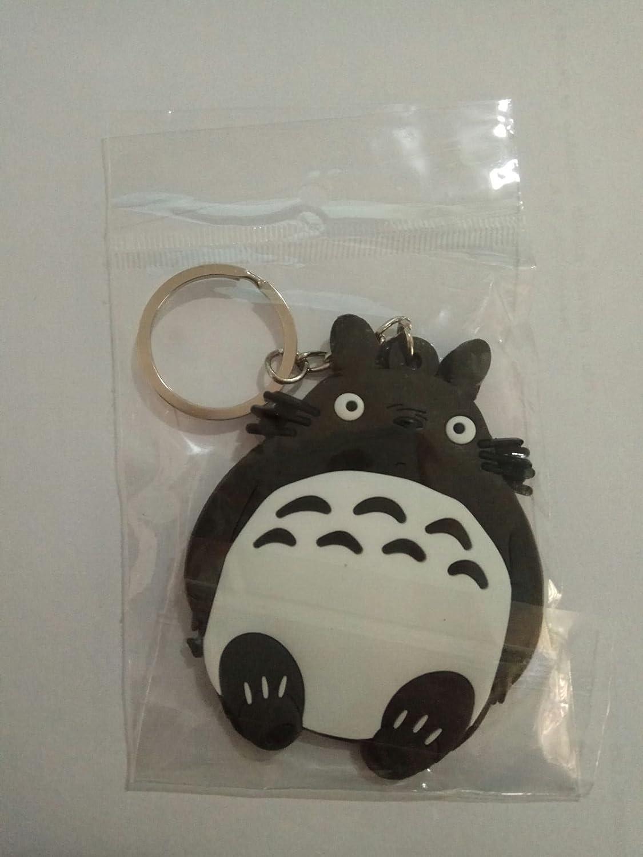 WoloShop Llavero de goma Totoro Blanco Mi vecino Totoro ...
