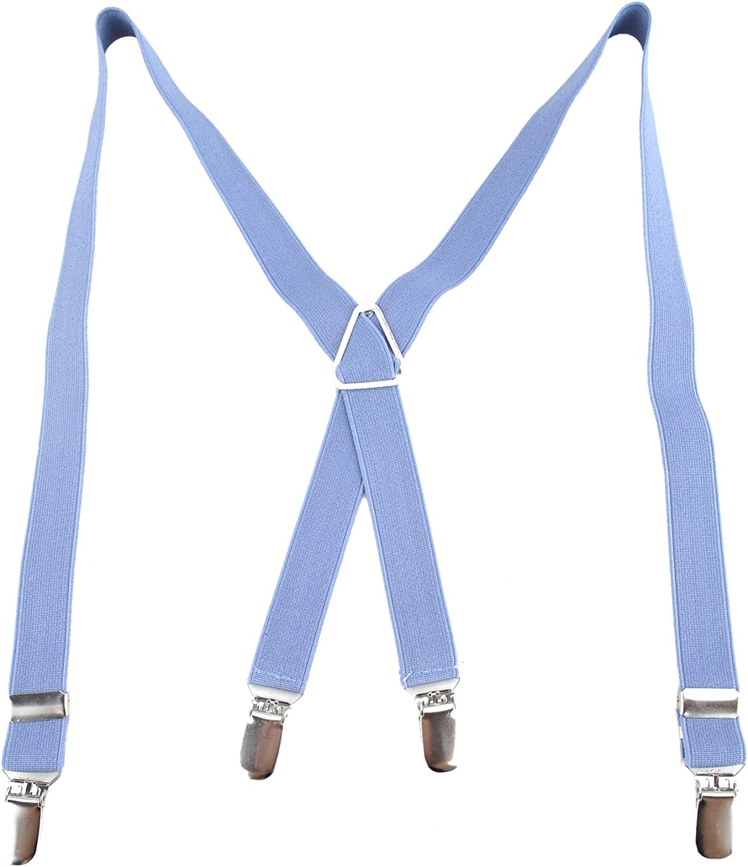 TopTie Kids Suspenders Boy Elastic Adjustable 3//4 Inch X-Back Suspenders