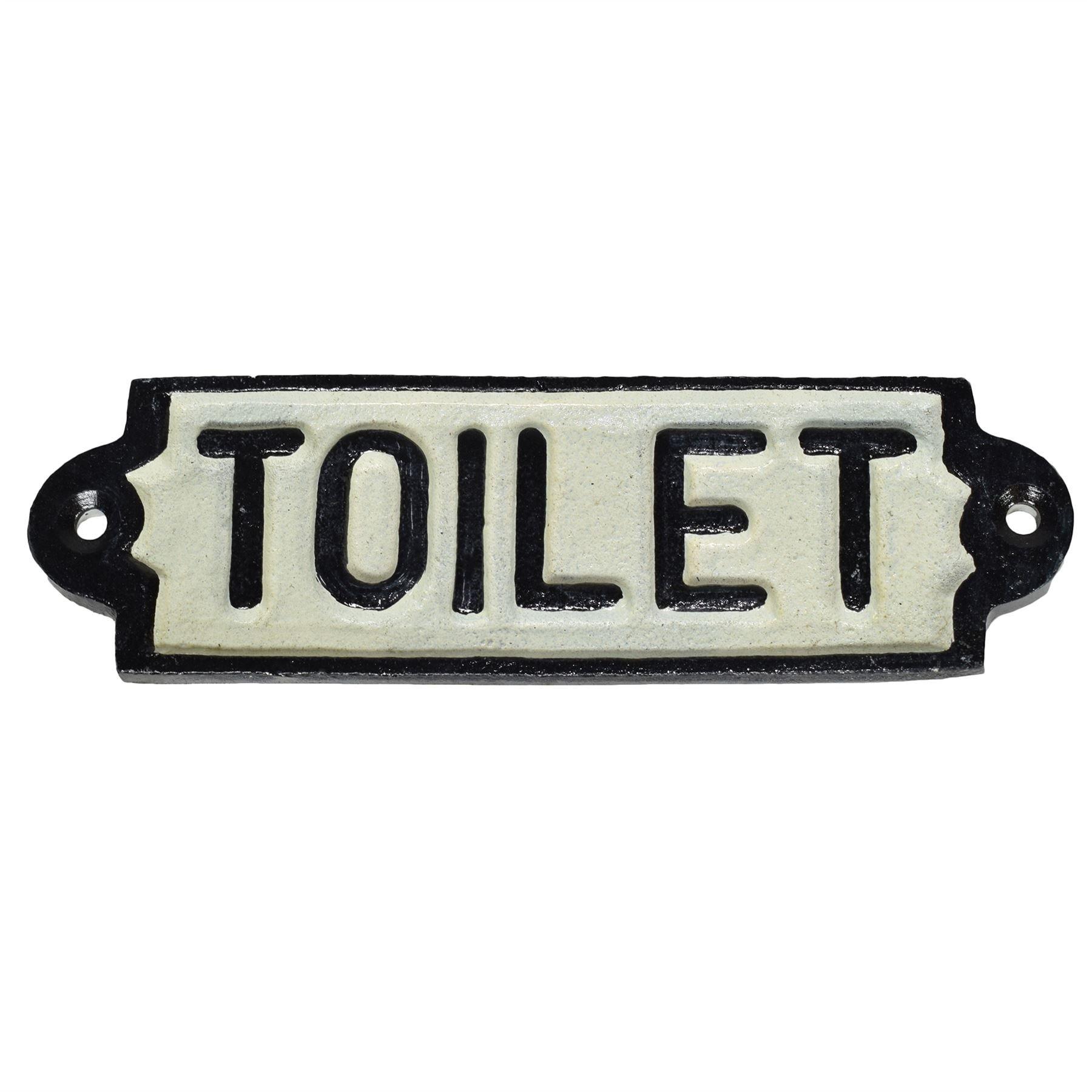 AB Tools Toilet Loo Cast Iron Sign Plaque Door Wall Fence Post Cafe Shop Pub Hotel Bar