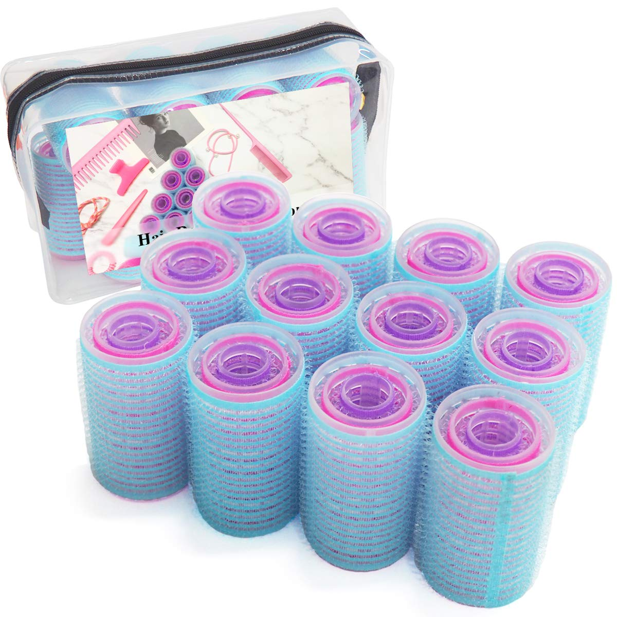 xnicx 36 Count Self Grip Large Small Medium Hair Rollers Eco Friendly  Material RoHS Standard Vented 6ca46593ffa