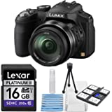 Panasonic Lumix DMC-FZ200 12.1 MP Digital Camera with CMOS Sensor & 24x Optical Zoom - Black + Lexar Platinum II 16 GB Secure Digital High Capacity (SDHC) + 6 Piece Deluxe Starter Cleaning Kit Bundle
