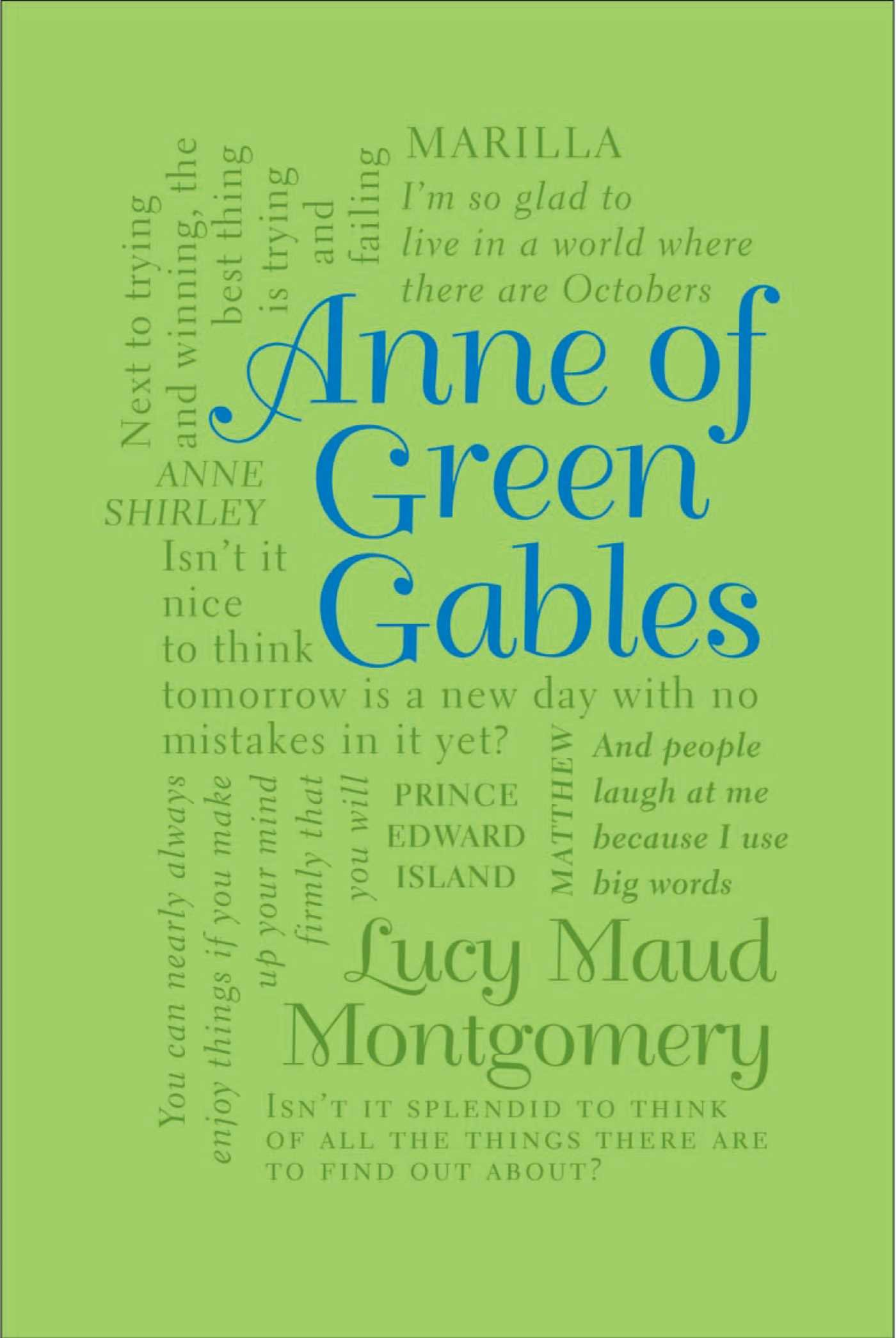 Image result for book cover anne of green gables word cloud classics