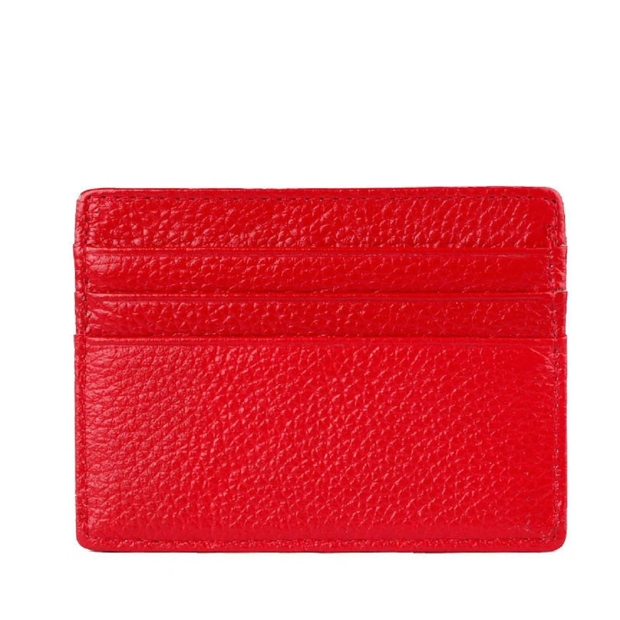 ABC® Mini Neutral Leather Wallet Card Holder Credit ID Card Purse