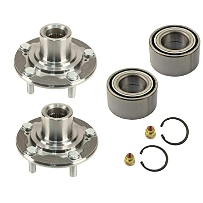 2 DTA Front Wheel Hub Wheel Bearing Repair Kits Compatible With 2013-2020 Honda Accord; 2015-2020 Acura TLX With Nut Retaining Clip Replaces OEM# 44600-T2F-A01 510118: Automotive