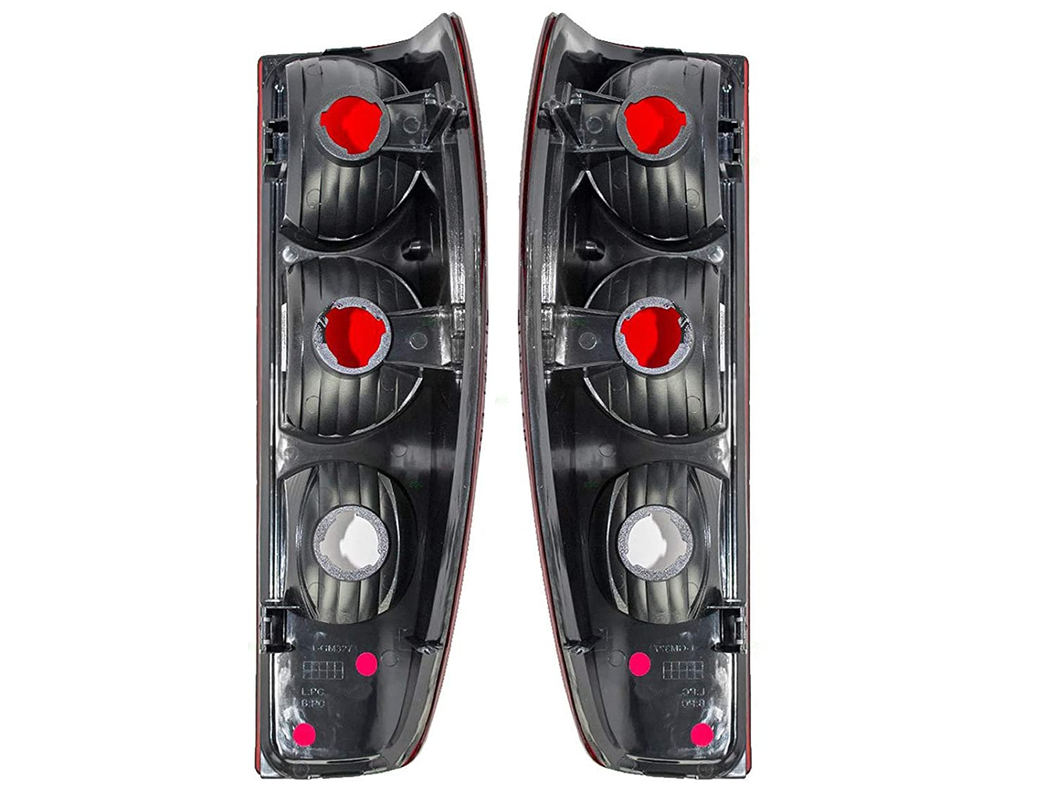 2004-2012 Chevrolet/Chevy Colorado & GMC Canyon, 2006 Isuzu i-280 i-350, 2007-08 i-290, i-370 Taillight Taillamp Rear Brake Tail Light Lamp Pair Set ...