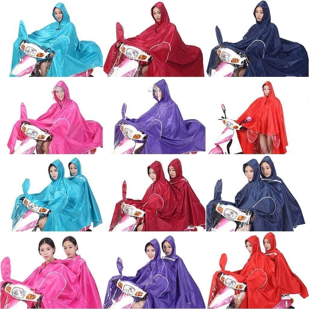 Saoye Fashion Electric Motorcycle Raincoat Double and Women Adult Car Raincoat Rain Clothes Poncho Raincoat R