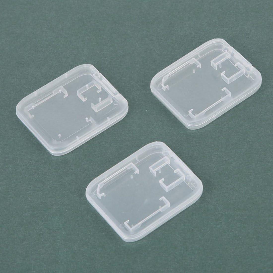 10Pcs Transparent Standard SD Sdhc Speicherkarte Fall Halter Box Carry Speicher