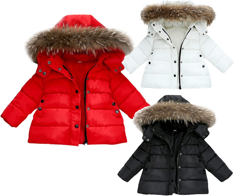 Baqijian Toddler Girl Outwear Warm Winter Coat Christmas Fur Hooded Kids Parkas Corduroy Wndbreaker Children Snowsuits