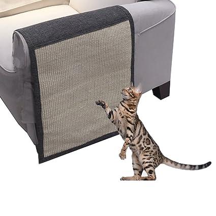 Yohoz - Alfombrilla de rascador para gatos, lujosa, para mascotas, muebles de mascota, protector de sofá, ...