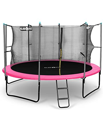 Klarfit Cama elástica trampolin con red de seguridad (superficie base 366 / 430cm diametro,