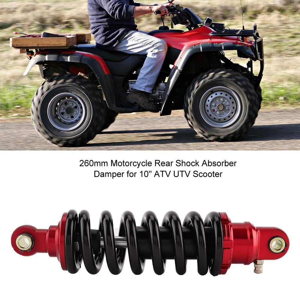 Qiilu Amortiguador del amortiguador trasero de la motocicleta Qiilu de 260 mm para scooter UTV ATV de 10