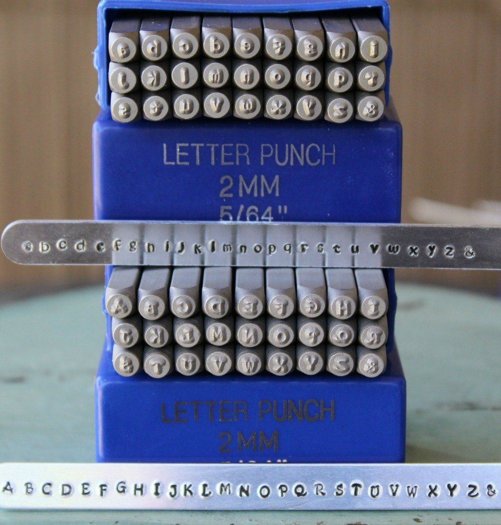 2mm Kristen Font Metal Stamp Alphabet Letter Set, Available in Uppercase, Lowercase or Combination Set (Combination (MD-11UL))