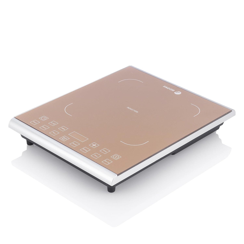 Fagor Portable 1800 Watt Induction PRO Magnetic Cooktop, Caramel – 962010058 Caramel – 962010058
