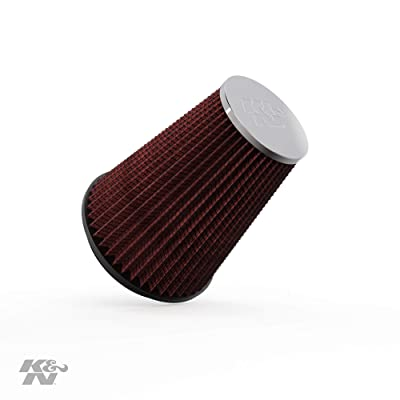K&N Universal Clamp-On Air Filter: High Performance, Premium, Washable, Replacement Filter: Flange Diameter: 6 In, Filter Height: 9 In, Flange Length: 0.625 In, Shape: Round Tapered, RC-5046: Automotive