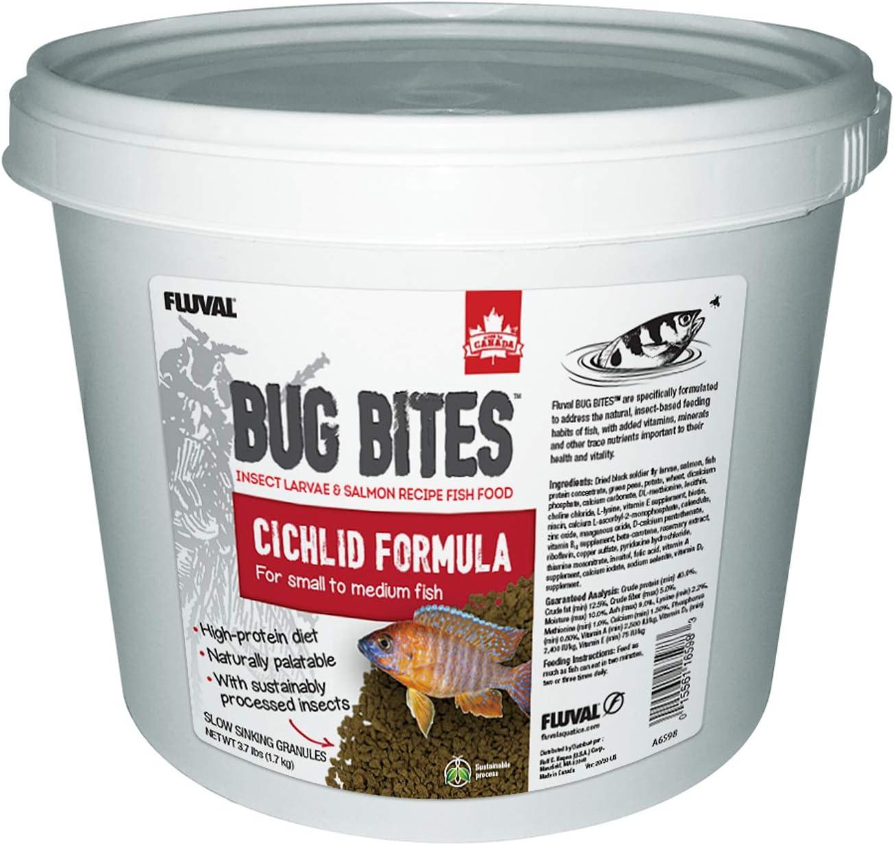Fluval Bug Bites Cichlid Fish Food, Granules for Small to Medium Sized Fish, 3.74 lb., A6598