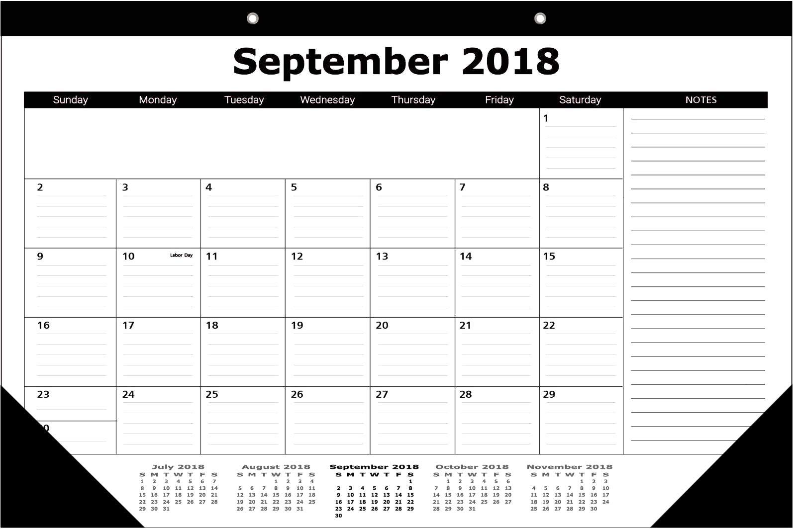 Office ESNTLS Premium Calendar Desk Pad- 17''x12''- September 2018 to December 2019- Can Be Used As Wall Calendar