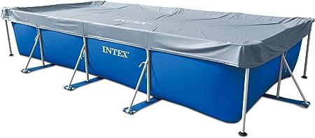 Intex – Cubierta rectangular de protección para piscinas tubulares ...