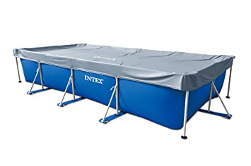 Intex - Lona rectangular de protección para piscinas tubulares, 4, 50 m, referencia: 58968: Amazon.es: Jardín