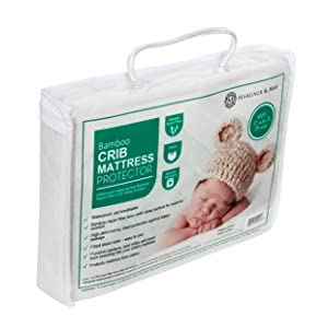 Ultra Soft Waterproof Crib Mattress Protector Pad From Bamboo Rayon Fiber