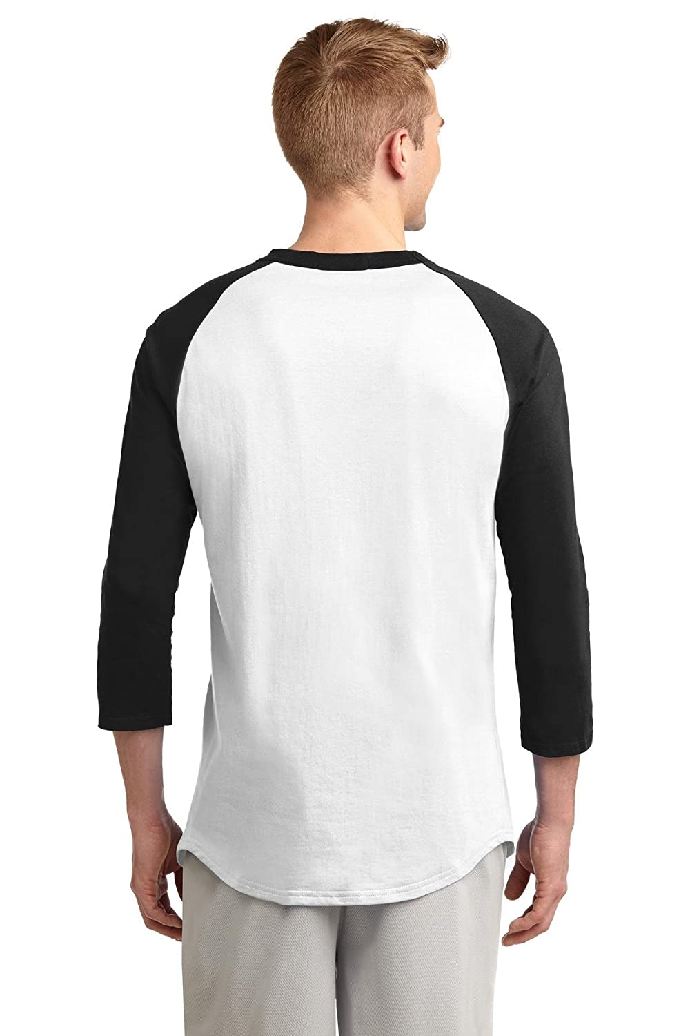 Pro tag 100 cotton 3 4 sleeve raglan baseball shirt in white black - Sport Tek Men S Colorblock Raglan Jersey At Amazon Men S Clothing Store