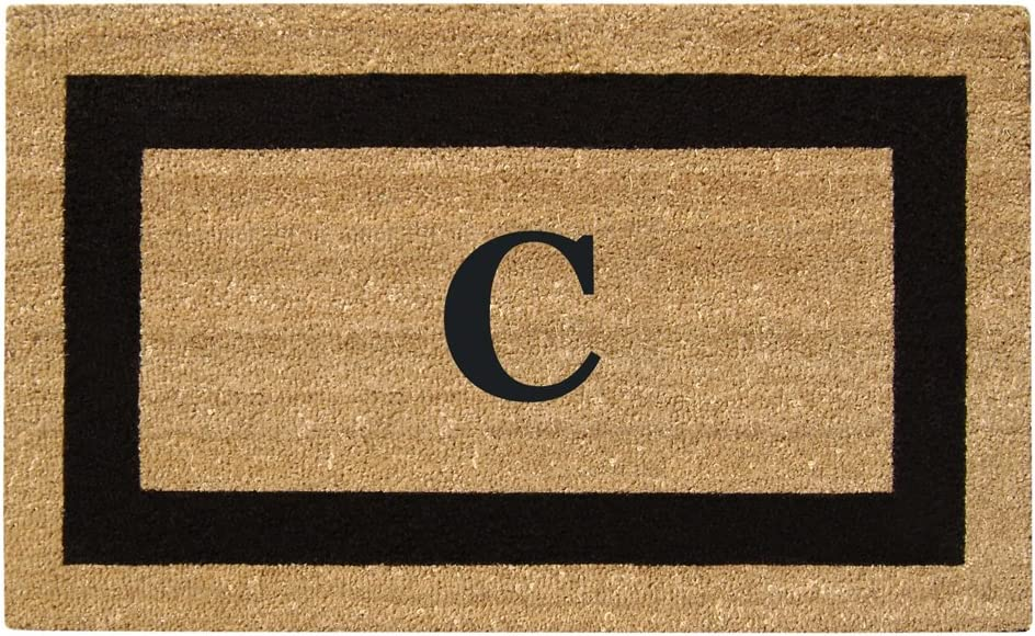 "Nedia Home Monogrammed C Superscraper Single Picture Frame, 20"" x 36"", Black"