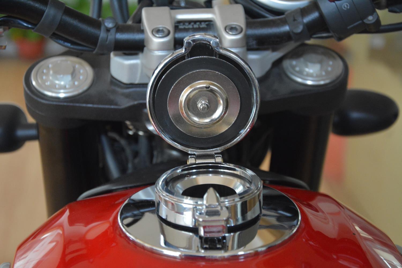 MOTO4U Caf/é Racer Alumnium Petrol Fuel Cap Tank Cap Monza Classic Style For BMW R NineT R9T In Sliver