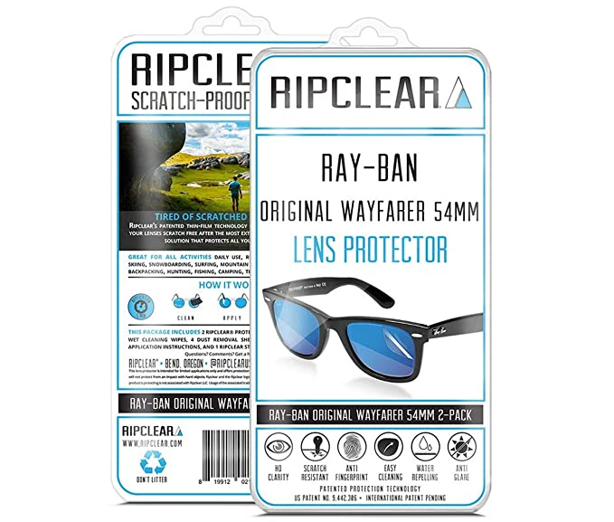 bb15488919 RIPCLEAR Sunglass Protectors for Ray-Ban RB2140 Original Wayfarer Classic  (54mm) Lens Protectors Sunglasses - Scratch Proof Crystal Clear - 2 pack at  Amazon ...