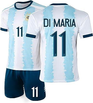 YANDDN Argentina Camiseta 19-20 Americas Cup Messi 10# Uniforme de fútbol Uniforme del Equipo Nacional, se Puede Limpiar repetidamente: Amazon.es: Ropa y accesorios