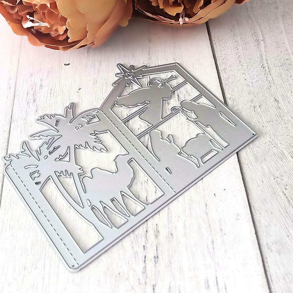 RITER Die Cuts for Card Making,Christmas Lantern Metal Die Cutting Stencil DIY Scrapbooking Album Stamp Paper Card Embossing Crafts Decor