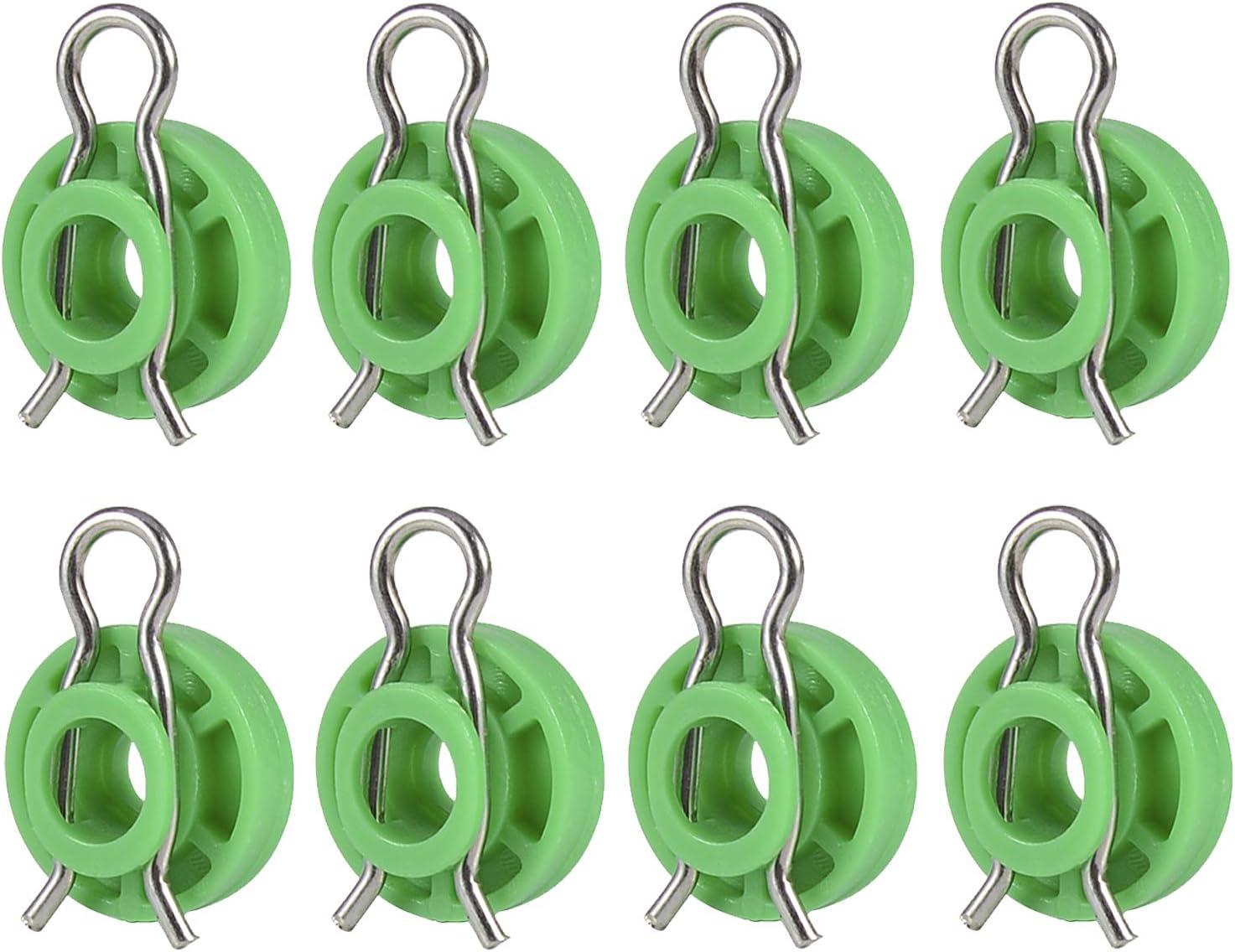 BingSnow 8 Pcs Window Regulators Sliding Pivot Guide Roller Clip Fastener for Volvo 850 V70 S70 V70XC Sliding Jaw Window Regulator for Saab 9-3 9-5 900