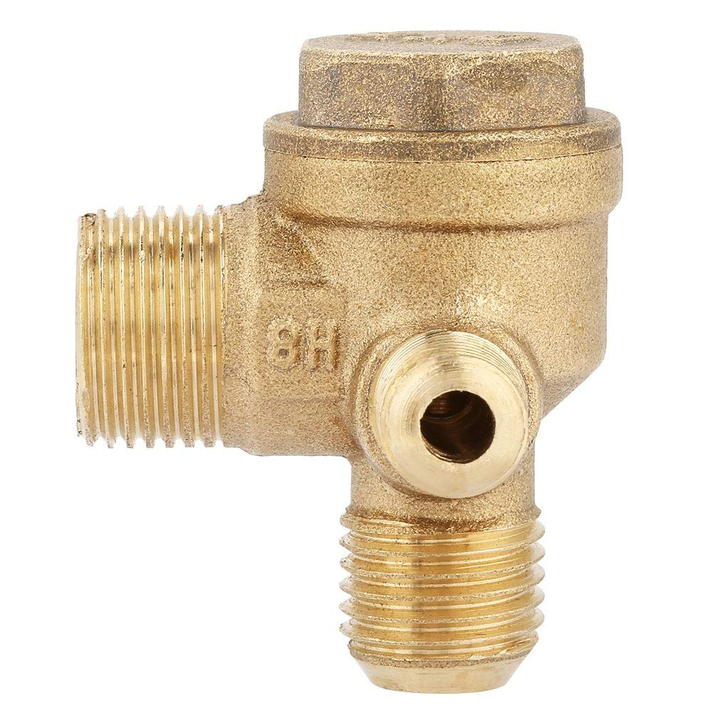 Male Thread 90 Degree Brass Air Compressor Check Valve Spare Parts 201410mm Check Valve
