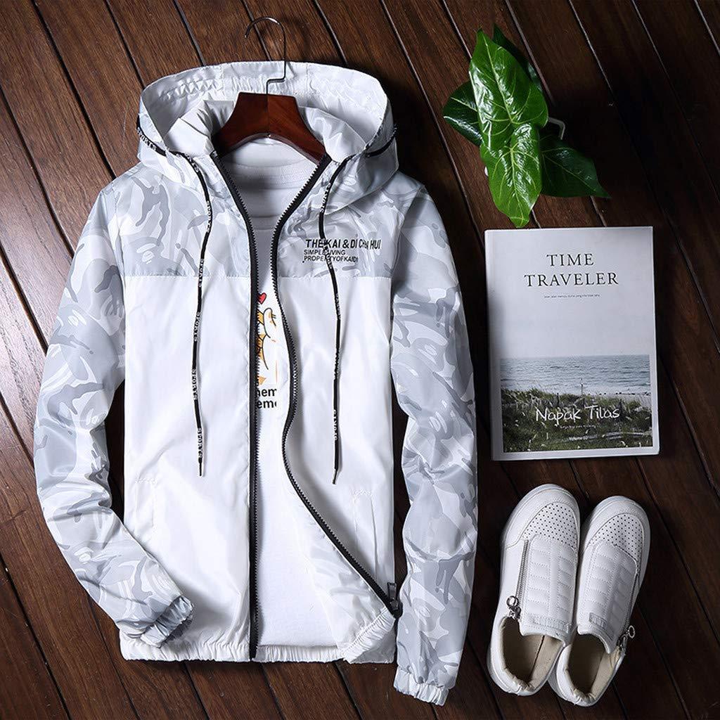 Men Sweatshirts Hoodies Pullover Winter Casual Camouflage Outdoor Windproof Sports Jacket Coat Streetwear Outerwear