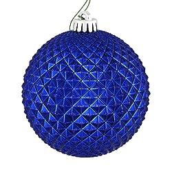 "Vickerman 529867-2.75"" Cobalt Blue Durian Glitter Ball Christmas Tree Ornament (12 pack) (N188422D)"