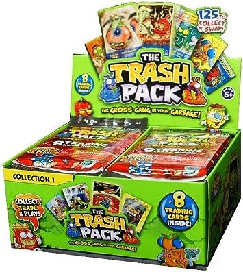 The Trash Pack - Juego de Cartas Intercambiable - 10 Paquetes - Colección 1 - The Gross Gang In Your Garbage: Amazon.es: Juguetes y juegos