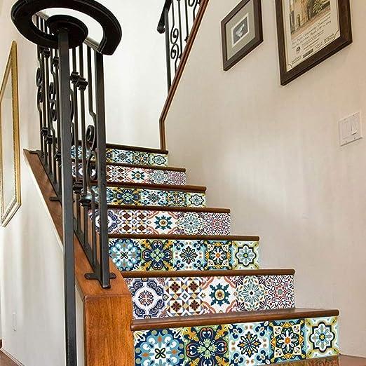 RXRENXIA Calcomanías De Calcomanías para Escaleras, Calderas, Azulejos Papel Tapiz Mural Vinilo Autoadhesivo Calcomanías para Escaleras para Decoración De Casas O Escaleras, 7
